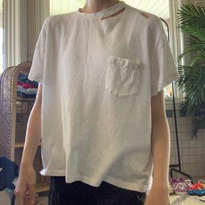 white free people shirt